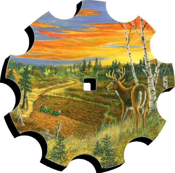 """""""Sunset Overlook"""" print form cut-out by Sue Zabel."""