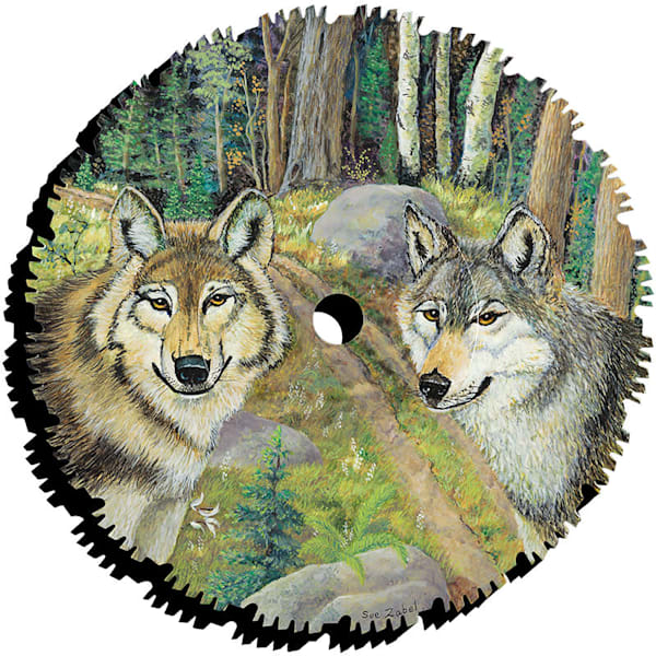 """""""ATV Trail Wolves"""" cut-out print by Sue Zabel."""