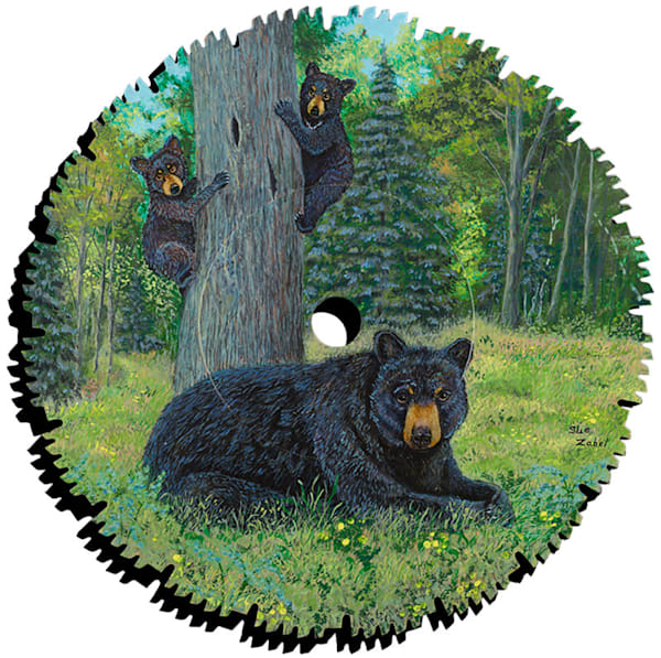 """""""Bear Forest Lookout"""" cut-out by Sue Zabel."""
