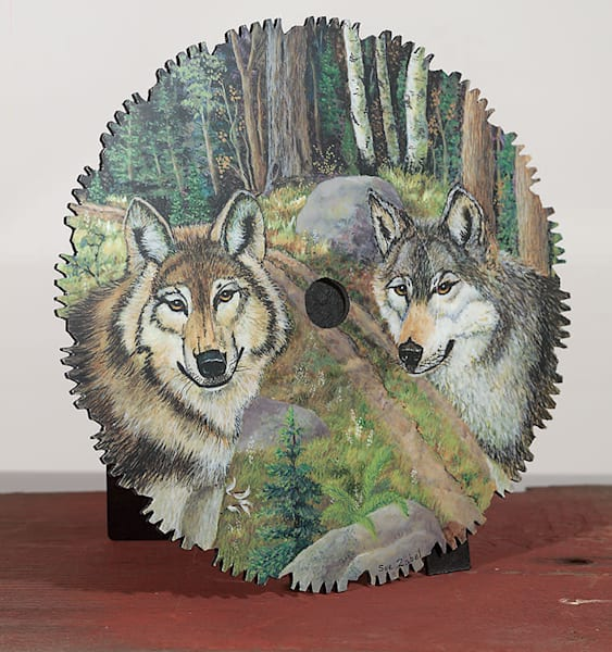 """ATV Trail Wolves"" - small cut-out"