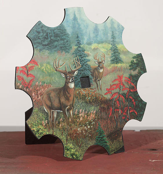 """Dreaming Whitetails"" - small cut-out"