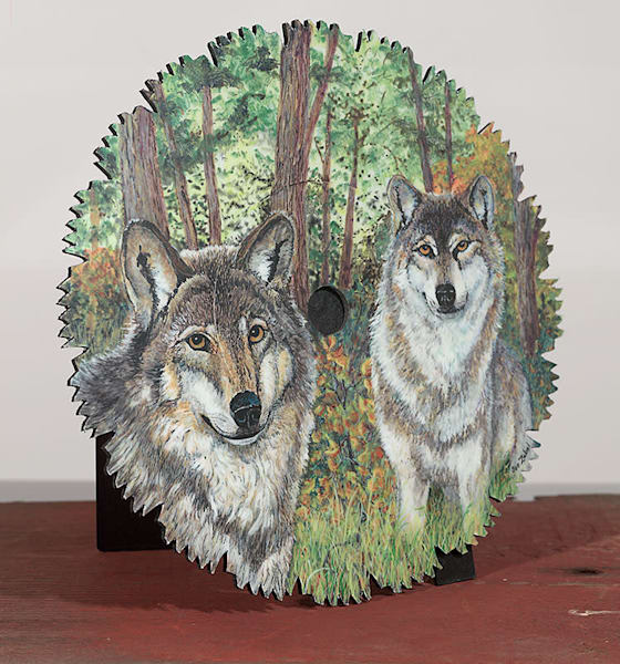 """Early Fall Wolves"" - small cut-out"