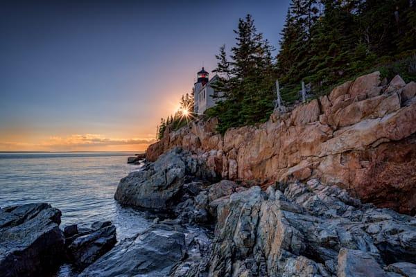 Sunset at Bass Harbor Head Lighthouse by Rick Berk