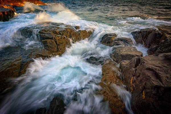Cascading Tide at Schoodic Point by Rick Berk