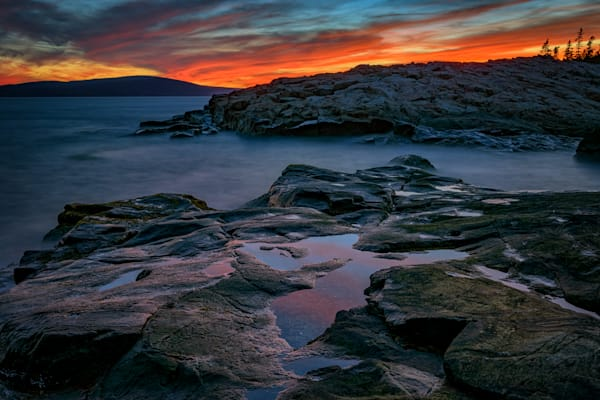 Schoodic Afterglow by Rick Berk