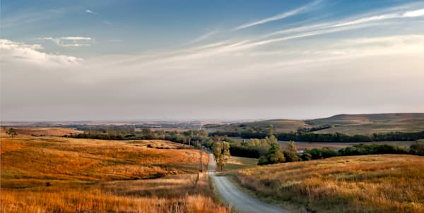 Americana: Sleepy Sunday Morning, a color, fine art photograph of the Kansas Flint Hills by David Zlotky