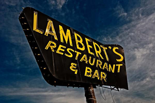 Lambert's Restaurant and Bar sign photography