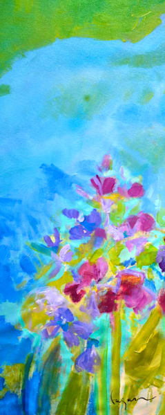 Abstract Pond Garden Print by Dorothy Fagan