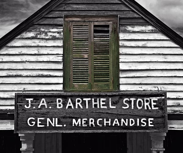 J.A. Bartel Store sign pohotography