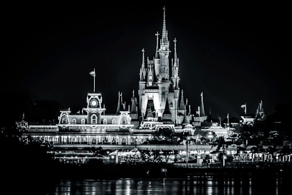 Magic Kingdom Black and White - Disney Wall Art | William Drew