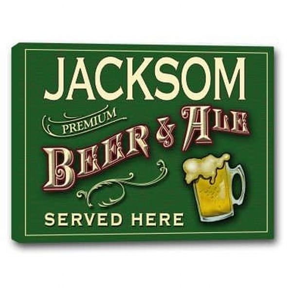 Premium Beer & Ale Canvas Sign | J Edgar Cool