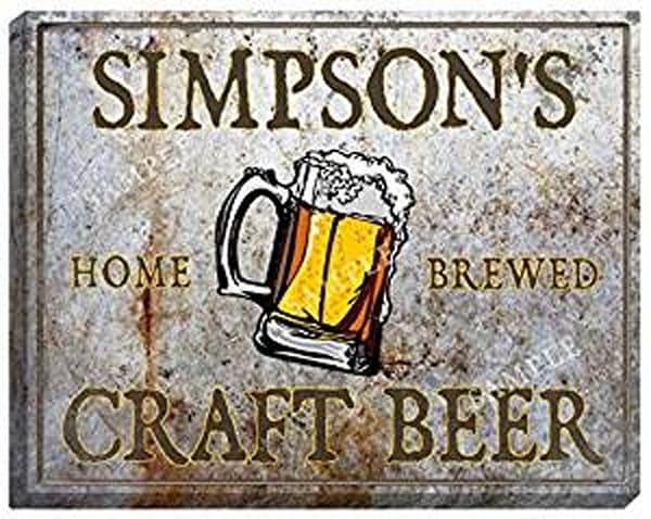Craft Beer Canvas Sign | J Edgar Cool