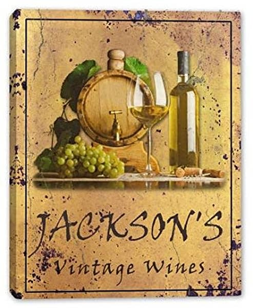 Vintage Wines Canvas Sign | J Edgar Cool