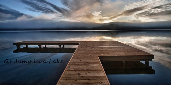 Go Jump In A Lake Photography Art | Robert Jones Photography