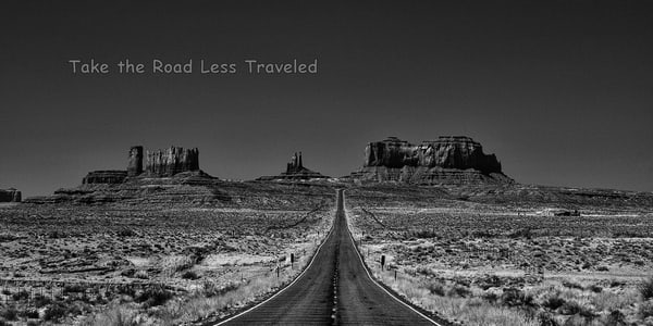 Take The Road Less Traveled Photography Art | Robert Jones Photography