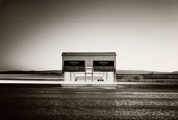 Prada Pop Up Marfa Cropped BW