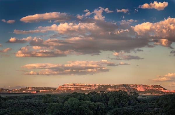 Golden Light-color: Ranchland Mesa Sunset, a golden hour, fine art photograph of Colorado mesas by David Zlotky