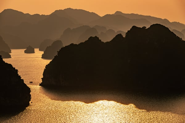 Ha Long Bay Setting Sun