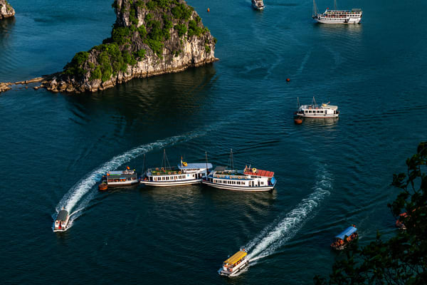 Boats in Ha Long Bay
