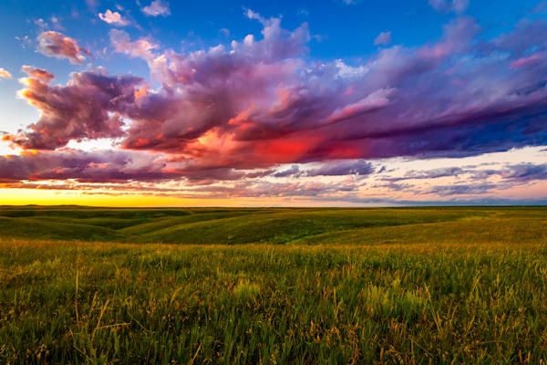 Sunset on the plains photography