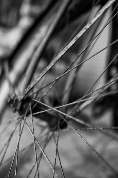 The Old Bicycle Wheel by Rick Berk