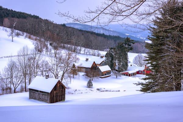 Winter Afternoon at Sleepy Hollow Farm by Rick Berk