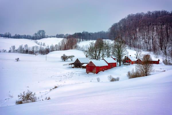 Winter Morning at Jenne Farm by Rick Berk