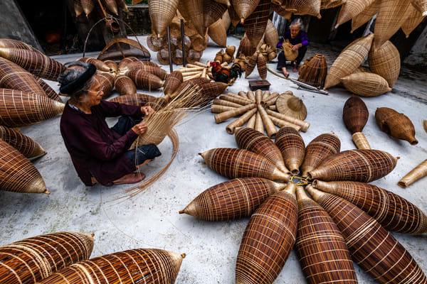 Bamboo Fish Traps