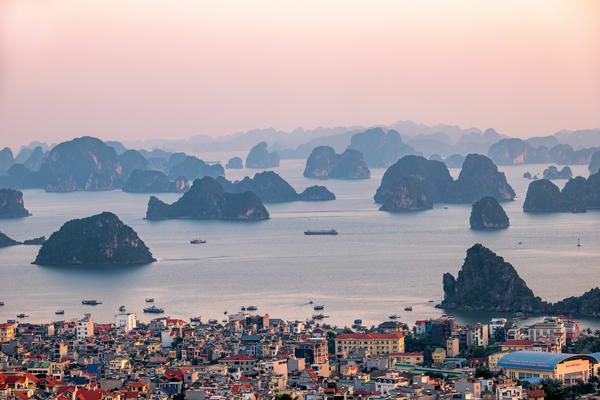 Ha Long Bay from a Hill