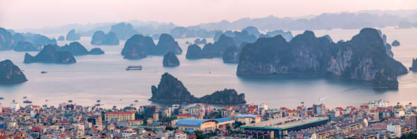 Ha Long Bay from a Hill Panorama