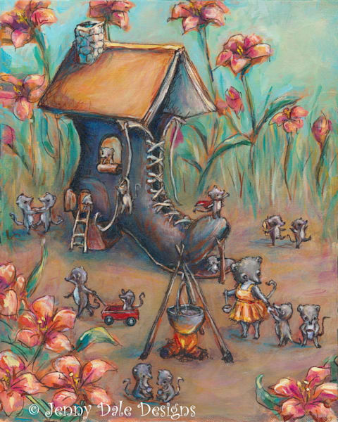 The Shrew in a Shoe | Nursery Rhyme Art