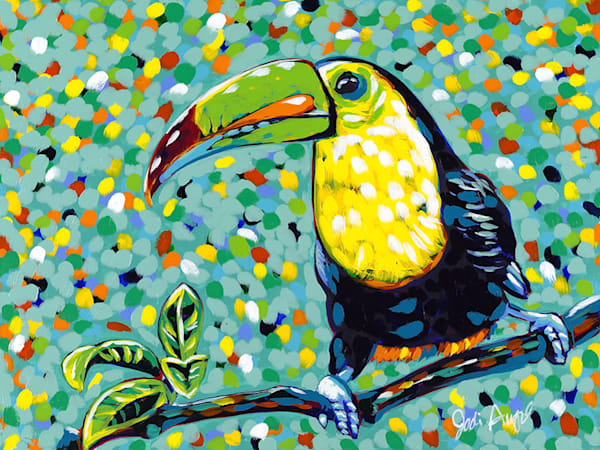 Rainbow Toucan, an acrylic painting by Jodi Augustine