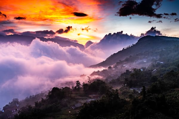 Sunset in Sapa