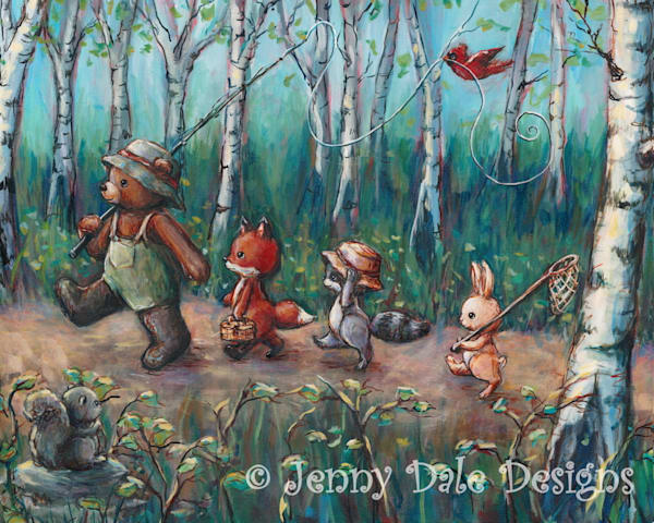 Fly Fishing Woodland Art | Jenny Dale Designs