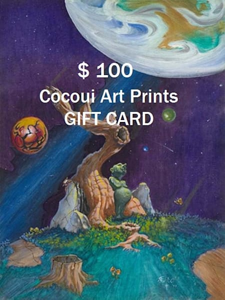 $100 Cocoui 'Art Prints Gift Card