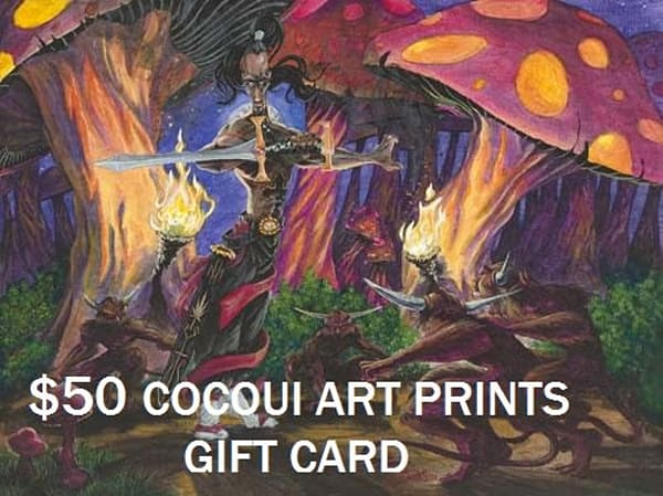 $50 Cocoui Art Prints Gift Card | Cocoui Ink.
