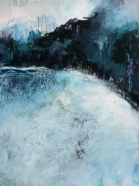 Abstract landscape painting, Meditation on Melting Ice, by Canadian artist Marianne Morris