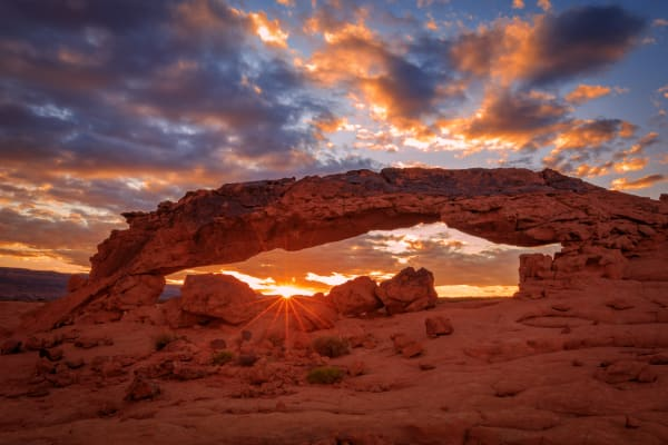 escalante sunset arch