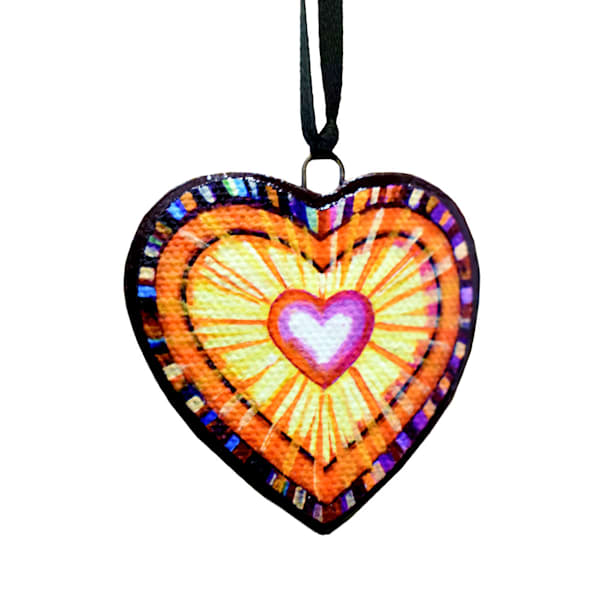 Love is Eternal handcrafted ornament by Jenny Hahn