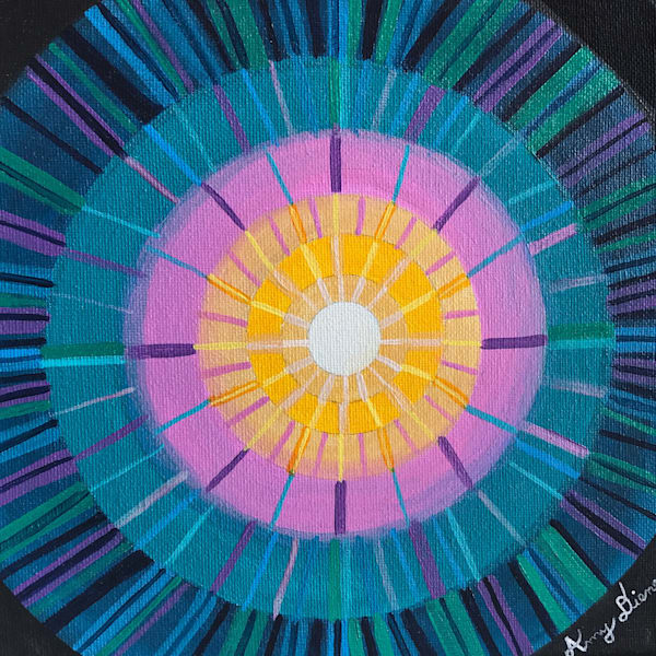 Gratitude Original Mandala Line Painting