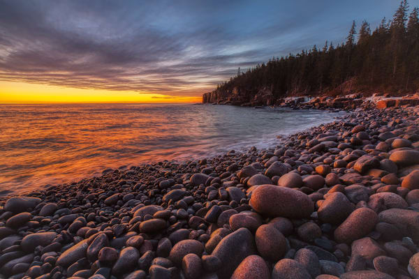 Boulder Beach Sunrise   Acadia National Park Photography Art | Will Nourse Photography