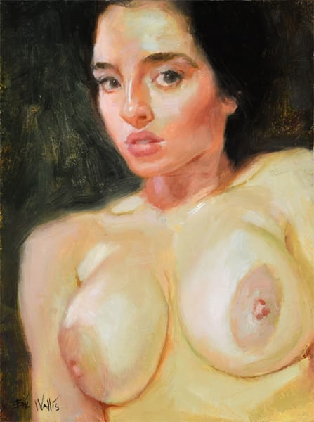 Very small giclee print of a nude by Eric Wallis