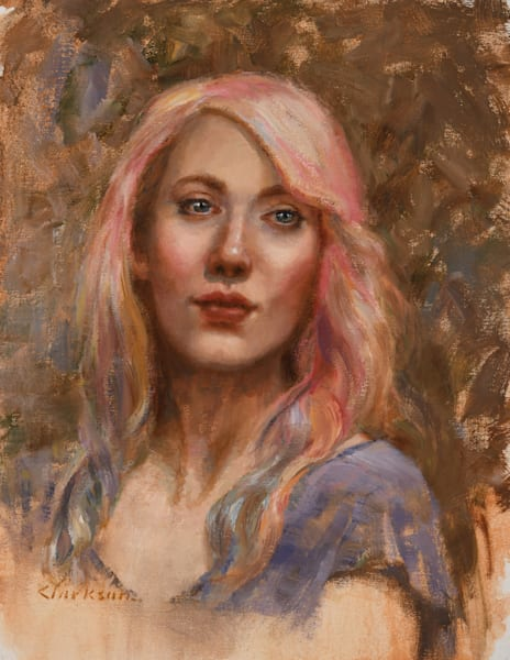 Listening Original Oil Painting