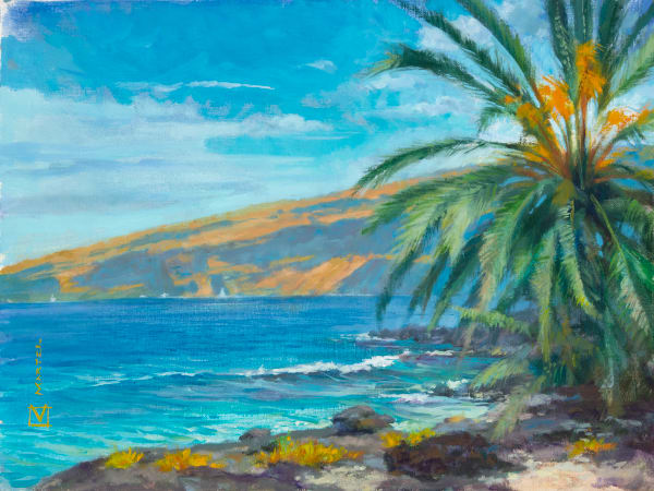 Hawaii Acrylic Art | Kealakekua Bay Gold by Mark Martel