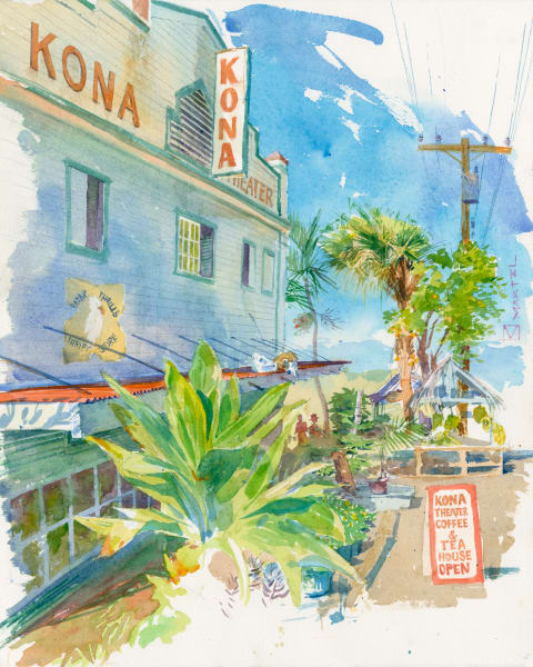 Hawaii Acrylic Art | Kona Theater by Mark Martel