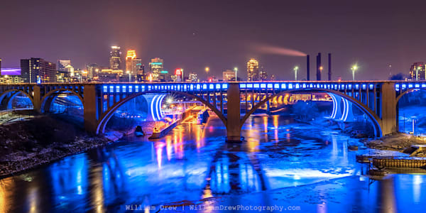 Blue Haze - Minneapolis Wall Murals | William Drew Photography