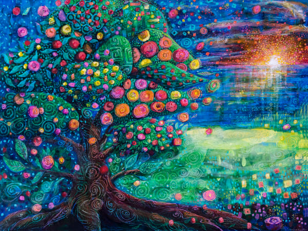 Tree Of Life Sunrise Art   Jessica Hughes Fine Art