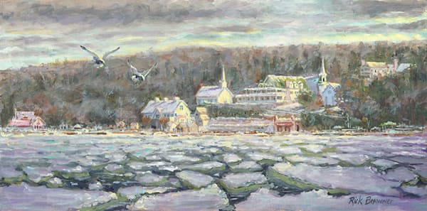 """Ephraim, Eagle Harbor Winter"" fine art print by Rick Brawner."