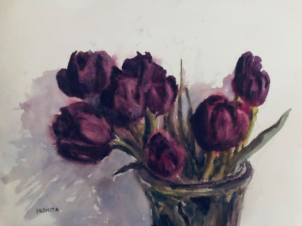 High-Resolution Print for Sale | Tulips | Artist Nishita Jain