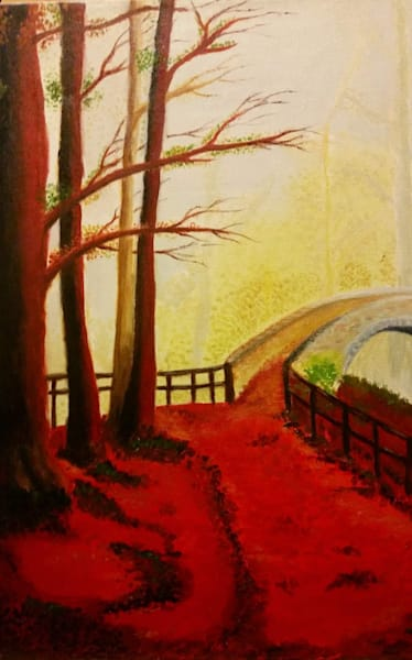 "Autumn  Bridge (16"" x 20"")"